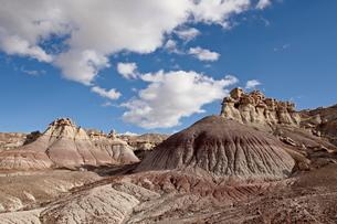 Badlands, Petrified Forest National Park, Arizona'の写真素材 [FYI03775982]
