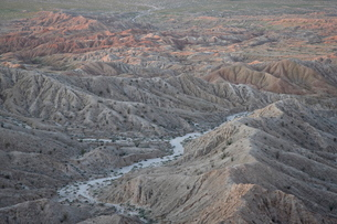 Badlands from Font's Point, Anza-Borrego Desert State Parkの写真素材 [FYI03775997]