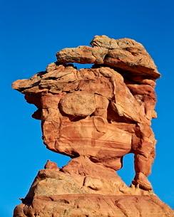 Sandstone formation, Coyote Buttes Wilderness, Vermilion Cliffs National Monument, Arizona'の写真素材 [FYI03776291]