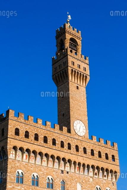 Palazzo Vecchio, Piazza della Signoria, Florence (Firenze), Tuscanyの写真素材 [FYI03776991]