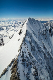Aerial view of Forni Glacier and Gran Zebru, Valtellina, Lombardyの写真素材 [FYI03777178]