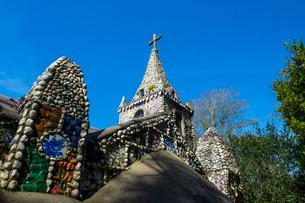Wonderful ornamented Little Chapel, Guernsey, Channel Islandsの写真素材 [FYI03777325]
