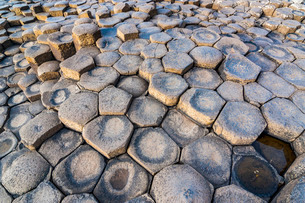 The Giants Causeway, County Antrim, Ulster, Northern Irelandの写真素材 [FYI03777340]