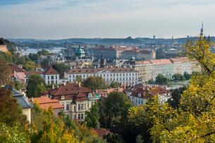 View over Prague from Prague castle, Pragueの写真素材 [FYI03777362]