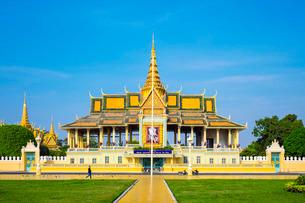 Moonlight Pavilion (Preah Thineang Chan Chhaya) of the Royal Palace, Phnom Penh, Cambodia, Indochinaの写真素材 [FYI03777754]