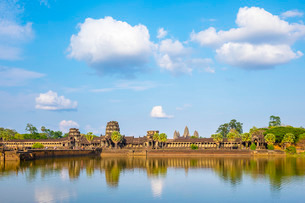 Angkor Wat, Siem Reap Province, Cambodia, Indochina, Southeast Asiaの写真素材 [FYI03777775]