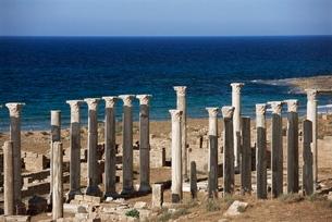 Eastern basilica, Apollonia, Cyrenaica, Libyaの写真素材 [FYI03777955]