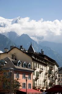 Mont Blanc, Chamonix, Haute Savoie, French Alpsの写真素材 [FYI03778236]