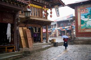 Shangri-La, formerly Zhongdian, on the Tibetan Border, Shangri-La region, Yunnan Provinceの写真素材 [FYI03778313]
