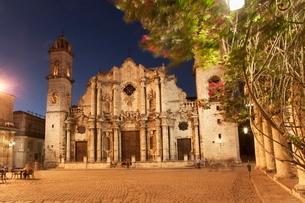 Plaza de la Catedral, Havana, Cubaの写真素材 [FYI03778412]