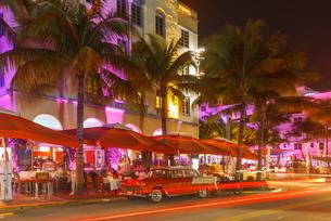 Art Deco District, Ocean Drive, South Beach, Miami Beach, Florida'の写真素材 [FYI03778724]