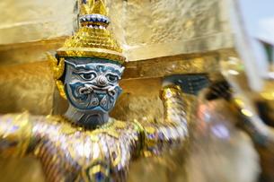 Wat Phra Kaew, Bangkok, Thailand, Southeast Asiaの写真素材 [FYI03778827]