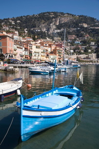 Villefranche-sur-Mer, Alpes Maritimes, Cote d'Azur, French Rivieraの写真素材 [FYI03778838]