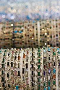 Bracelets for sale, Grand Bazaar (Great Bazaar), Istanbul, Turkeyの写真素材 [FYI03778920]