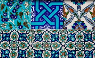 Decorative ceramic tiles, Cavalry Bazaar, Istanbul, Turkey, Western Asiaの写真素材 [FYI03778931]