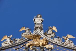 Detail of the facade of Basilica di San Marco (St. Mark's Basilica), St. Mark's Square, Venice, Veneの写真素材 [FYI03778989]