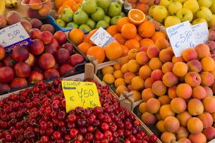 Fruit for sale in Mercato di Campo de Fiori, Rome, Lazioの写真素材 [FYI03779180]