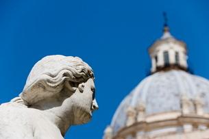 Statue, fountain, Fontana Pretoria, Palermo, Sicilyの写真素材 [FYI03779384]