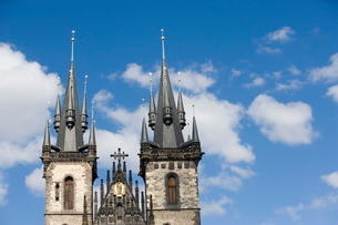 Church of Our Lady before Tyn, Old Town Square, Old Town, Pragueの写真素材 [FYI03779446]