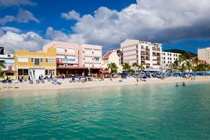 The Dutch capital of Philipsburg, St. Maarten, Netherlands Antilles, Leeward Islands, Caribbeanの写真素材 [FYI03779687]
