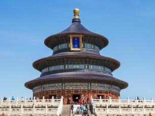 Hall of Prayer for Good Harvests, Temple of Heaven (Tian Tan), Beijingの写真素材 [FYI03779755]