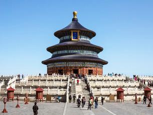 Hall of Prayer for Good Harvests, Temple of Heaven (Tian Tan), Beijingの写真素材 [FYI03779756]