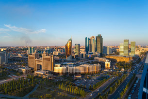The city center and central business district, Astana, Kazakhstanの写真素材 [FYI03779783]