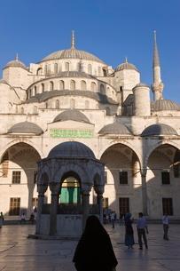 The Blue Mosque (Sultah Ahmet) in Sultanahmet, Istanbul, Turkeyの写真素材 [FYI03779852]