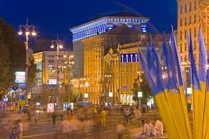 Independence Day, Maidan Nezalezhnosti (Independence Square), Kievraineの写真素材 [FYI03779865]