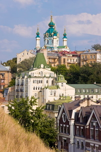 St. Andrews Orthodox Church, Podil, Kievraineの写真素材 [FYI03779870]
