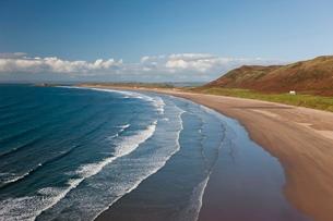 Rhossilli Bay, Gower Peninsula, Glamorgan, Walesの写真素材 [FYI03779914]