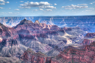 From Bright Angel Point, North Rim, Grand Canyon National Park, Arizona'の写真素材 [FYI03779954]