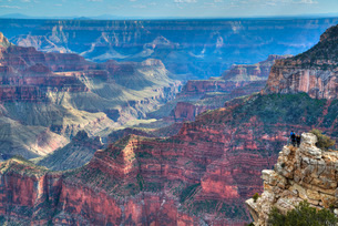 From Bright Angel Point, North Rim, Grand Canyon National Park, Arizona'の写真素材 [FYI03779956]