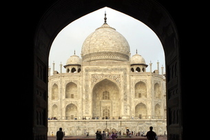 Taj Mahal, Agra, Uttar Pradeshの写真素材 [FYI03780003]