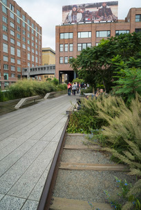 High Line public park, Meatpacking District, New York City, New York'の写真素材 [FYI03780173]
