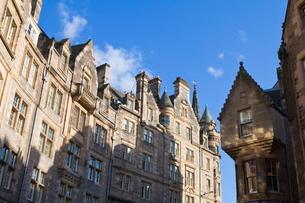 Buildings in the Old Town, Edinburgh, Lothian, Scotlandの写真素材 [FYI03780264]