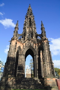Scott Monument, Edinburgh, Lothian, Scotlandの写真素材 [FYI03780266]