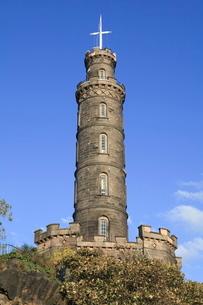 Nelson Monument, Calton Hill, Edinburgh, Lothian, Scotlandの写真素材 [FYI03780269]