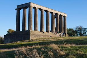 The National Monument, Calton Hill, Edinburgh, Lothian, Scotlandの写真素材 [FYI03780270]