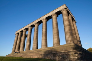 The National Monument, Calton Hill, Edinburgh, Lothian, Scotlandの写真素材 [FYI03780273]