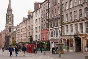 Royal Mile, Old Town, Edinburgh, Lothian, Scotlandの写真素材 [FYI03780276]