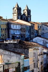 Pelourinho district, Salvador de Bahia, Brazilの写真素材 [FYI03780354]