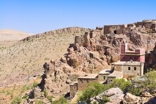Little village in the desert of southern Moroccoの写真素材 [FYI03780467]