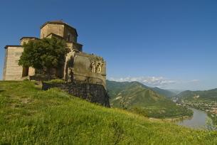 The church of Jvari, Mtskheta, Georgia, Caucasusの写真素材 [FYI03780530]