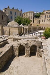 Excavations near the Maiden Tower, Baku, Azerbaijanの写真素材 [FYI03780543]