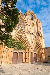 Lala Mustafa Pasa Mosque, Famagusta, Turkish part of Cyprus, Cyprusの写真素材 [FYI03780605]