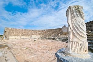 Roman ruins of Salamis, Turkish part of Cyprus, Cyprusの写真素材 [FYI03780614]