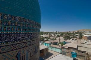 Mosque with decoration, Istarvashan, Tajikistanの写真素材 [FYI03780651]