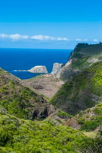 The rugged west Maui landscape and coastline, Maui, Hawaiiの写真素材 [FYI03781001]