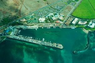 Aerial of Maui, Hawaiiの写真素材 [FYI03781027]